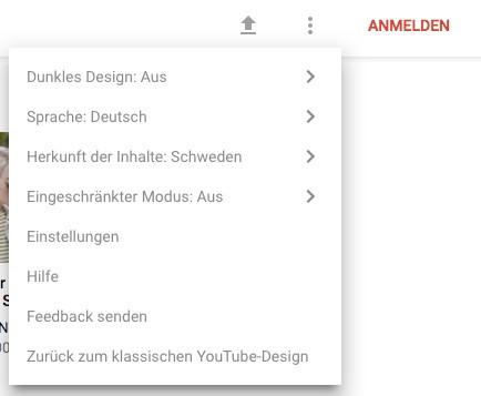 youtube dark mode aktivieren