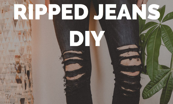 Ripped Jeans DIY - EINFACH SELBER MACHEN | Jeans Upcycling